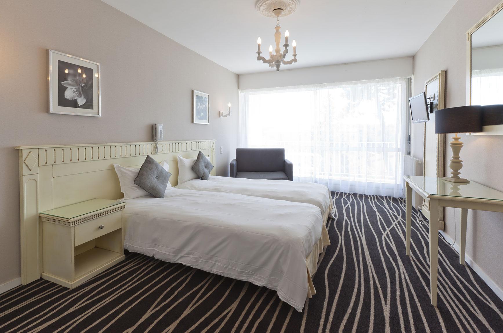 Camera da letto con 2 letti singoli h tel du parc - Camera da letto con tv ...